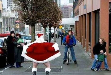 flashing santa